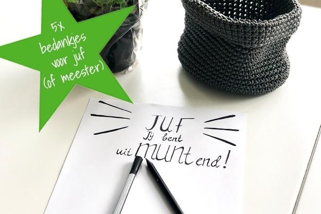 5x Bedankjes Voor Juffen En Meesters Kidsproof Arnhem