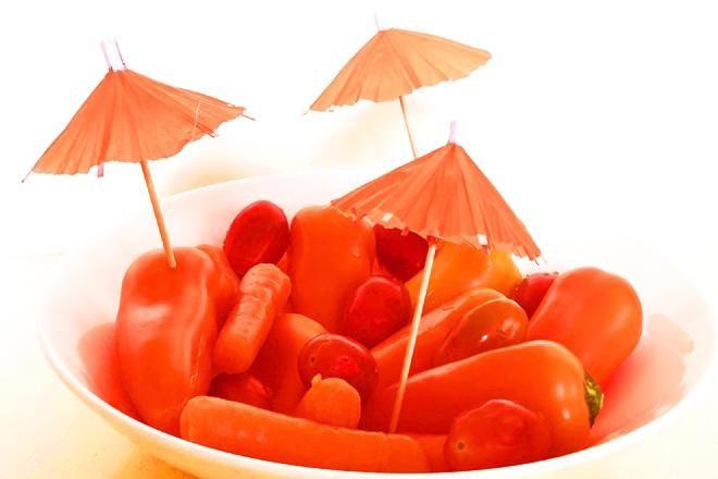 Kleurrijk groentebordje