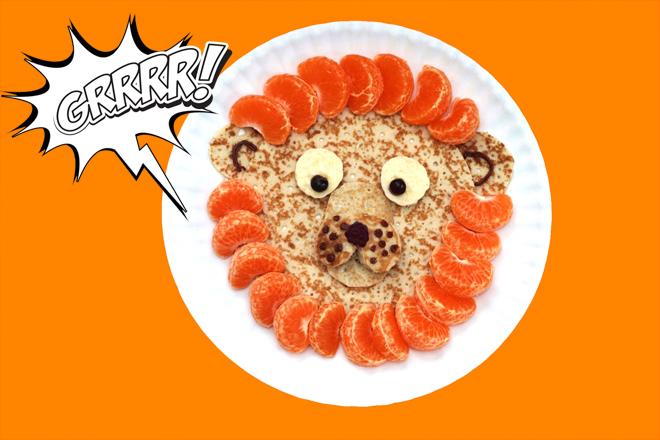 Pannenkoek leeuw