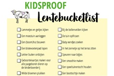 Lentebucketlist met 35 tips