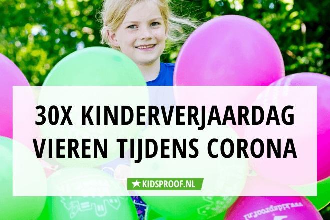Nieuw 30x kinderverjaardag vieren tijdens corona | Kidsproof Leiden DY-34