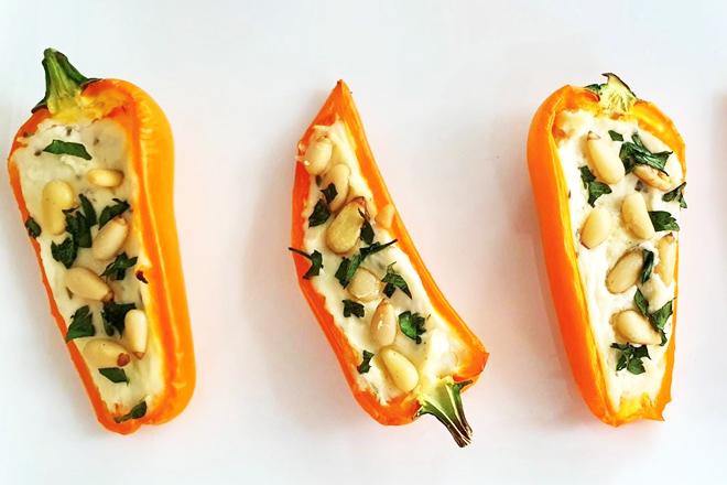 Gevulde mini-paprika's