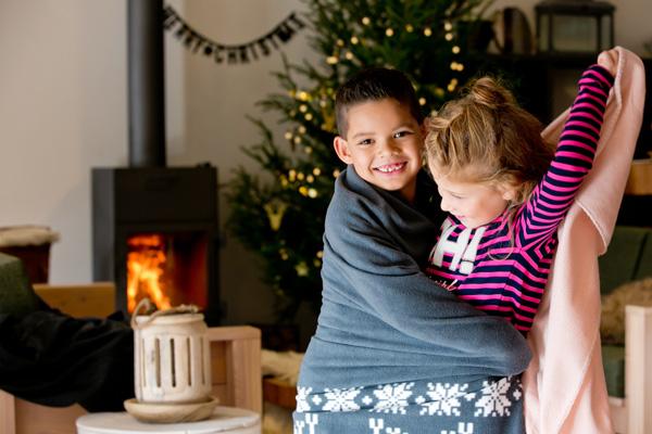 kerstliefde delen zonder bezoek