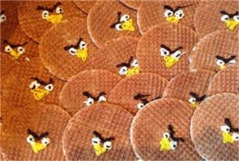 Angry Birds stroopwafels